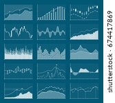 business data financial charts. ... | Shutterstock .eps vector #674417869