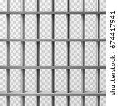 jail cell bars isolated. prison ... | Shutterstock .eps vector #674417941