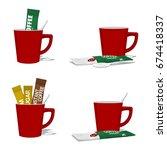 set composition of instant...   Shutterstock .eps vector #674418337