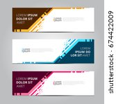 vector abstract design banner... | Shutterstock .eps vector #674422009