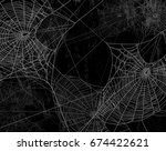 spider web silhouette against... | Shutterstock .eps vector #674422621