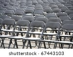 black plastic chairs set for an ... | Shutterstock . vector #67443103