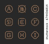 vector letters a  b  c  d  e  f ... | Shutterstock .eps vector #674436814