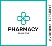 medical pharmacy logo design... | Shutterstock .eps vector #674438569