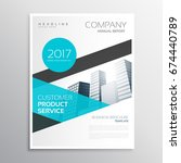 modern blue business brochure... | Shutterstock .eps vector #674440789