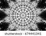 grunge black and white urban... | Shutterstock .eps vector #674441341
