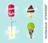summer sale | Shutterstock .eps vector #674443087