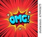 cool comic book speech bubble... | Shutterstock .eps vector #674443675