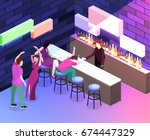 isometric flat 3d isolated... | Shutterstock .eps vector #674447329