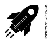rocket launch icon | Shutterstock .eps vector #674447635