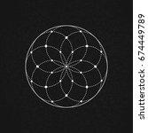 sacred geometry. vector... | Shutterstock .eps vector #674449789
