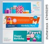 horizontal banners set of... | Shutterstock .eps vector #674450395