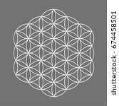 sacred geometry symbol  flower... | Shutterstock .eps vector #674458501