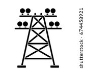 electric tower icon | Shutterstock .eps vector #674458921