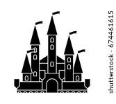 castle vintage icon | Shutterstock .eps vector #674461615