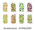 recipe detox water recipes... | Shutterstock .eps vector #674461909