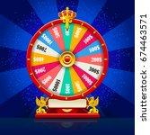 fortune wheel realistic...   Shutterstock . vector #674463571