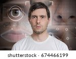 face detection and recognition... | Shutterstock . vector #674466199