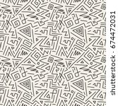 seamless geometric patterns in...   Shutterstock . vector #674472031