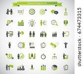 universal business strategy... | Shutterstock .eps vector #674473315