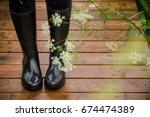 Closeup Of Woman's Feet In...