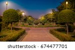 night view of park  | Shutterstock . vector #674477701
