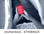 woman in a hammock with a... | Shutterstock . vector #674484625