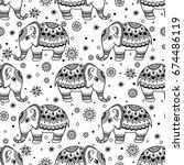 tribal vector seamless pattern...   Shutterstock .eps vector #674486119