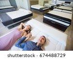 ordinary family choosing... | Shutterstock . vector #674488729