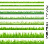 9 backgrounds of green grass ... | Shutterstock .eps vector #67449052