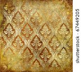 vintage golden shabby background - stock photo