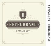 ornament logo design template... | Shutterstock .eps vector #674493151