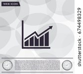 arrow on the scale web icon.... | Shutterstock .eps vector #674498329