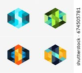 modern abstract design vector... | Shutterstock .eps vector #674505781