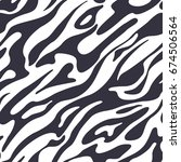 abstract pattern with liquid... | Shutterstock .eps vector #674506564