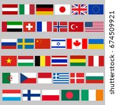 35 national flags | Shutterstock .eps vector #674509921