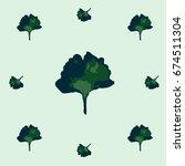 seamless vector boho hipster... | Shutterstock .eps vector #674511304