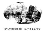 brush stroke and texture. smear ... | Shutterstock . vector #674511799