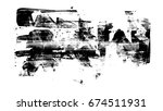 brush stroke and texture. smear ... | Shutterstock . vector #674511931