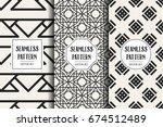 abstract concept vector... | Shutterstock .eps vector #674512489