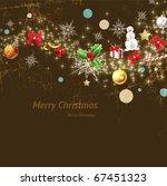 christmas vintage background... | Shutterstock .eps vector #67451323