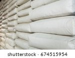 pile of white plastic sacks in... | Shutterstock . vector #674515954