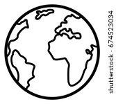 vector single basic outline... | Shutterstock .eps vector #674523034