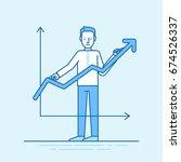 vector illustration in trendy... | Shutterstock .eps vector #674526337