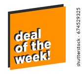 deal of the week in flat... | Shutterstock .eps vector #674529325