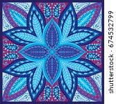 india seamless paisley pattern  ... | Shutterstock .eps vector #674532799