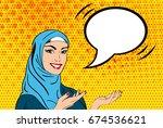 beautiful lady in hijab. vector ...