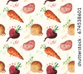 seamless pattern with fresh... | Shutterstock . vector #674538601