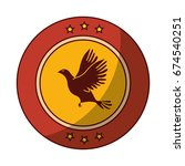 dove bird symbol | Shutterstock .eps vector #674540251