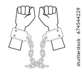 hands with handcuffs icon | Shutterstock .eps vector #674544229